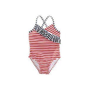 Oshkosh B'gosh Girls' One Piece Striped Swimsuit